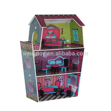 Popular design mini furniture children wooden toys doll house