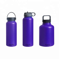 San Fu 32 40 52 OZ Customized Logo Insulted Water Bottle Stainless Steel Double Walled Beer Growler