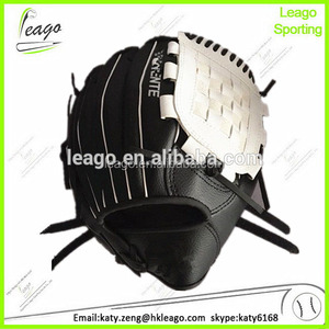 high quality PU black leather baseball gloves manufacturer