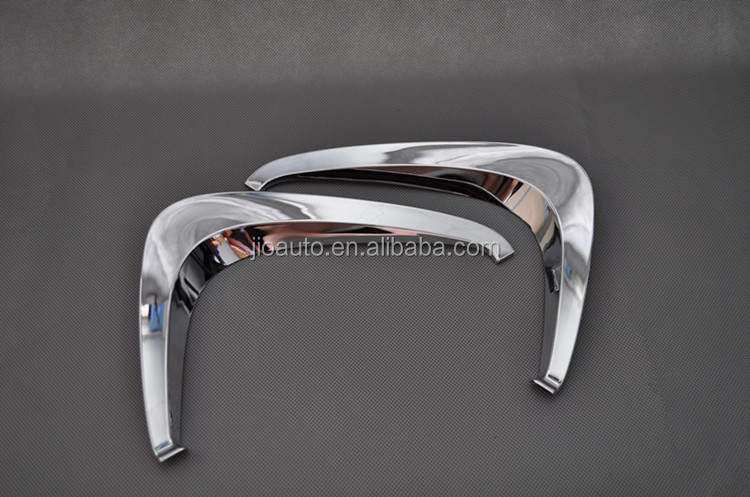 Car accessories ABS Chrome car front fog light eyebrow cover trim for Toyota Prius parts 2016