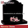 Good quality china black granite monument for russian market