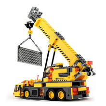 380Pcs City Engineering Building Blocks Compatible Legoings City Toys DIY Crane Sets Education Bricks Gifts For Kids