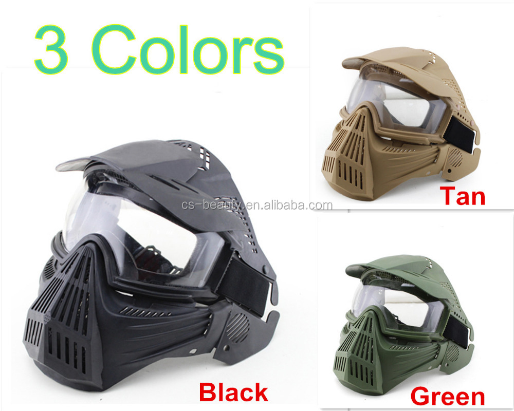 Full face gauze network full-face Safe mask with Goggle for outdoor CS survival war game Halloween horror scare masks