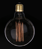 Manufacturers base E27 3500K 40W 60W CE EMC LVD RoHS approved G125 bulb retro vintage Edison light