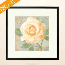 ZZ(5729) Simple bedroom decor yellow rose oil painting beautiful flower print painting