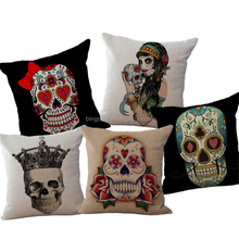 2016 Wholesale 3D Monster Printed Decorative Throw Pillow Cushion Cover