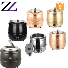 Soup warmer kettle kitchen equipment restaurant buffet stainless steel electric soup warming heating pot