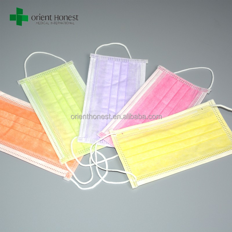 Disposable 3 Ply Face Mask With Ear Loop For Food Service
