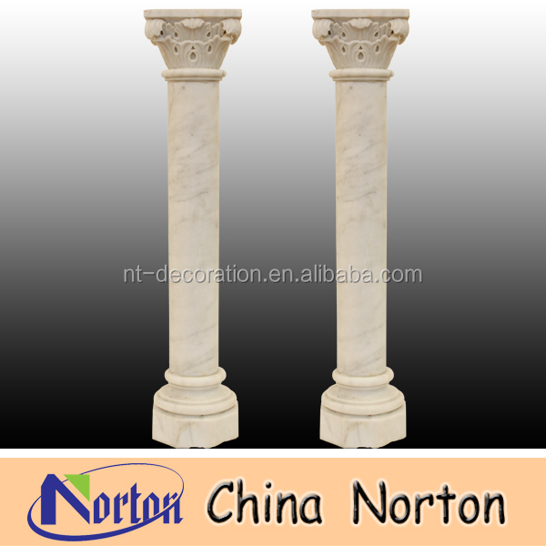 indoor decoration white marble column for sale NTMF-C049