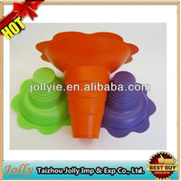 Plastic snow cone holder flower cups