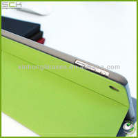 Book style leather case for ipad mini with stand design