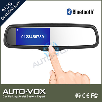 Super brightness bluetooth car rearview mirror monitor handsfree car kit