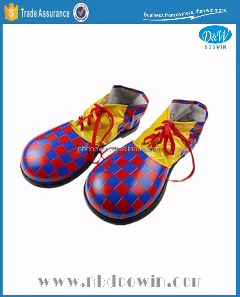 Black red checkered color clown shoes for Carnival/Party