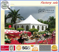 Fireproof 5*5m outdoor temporary used gazebo for sale