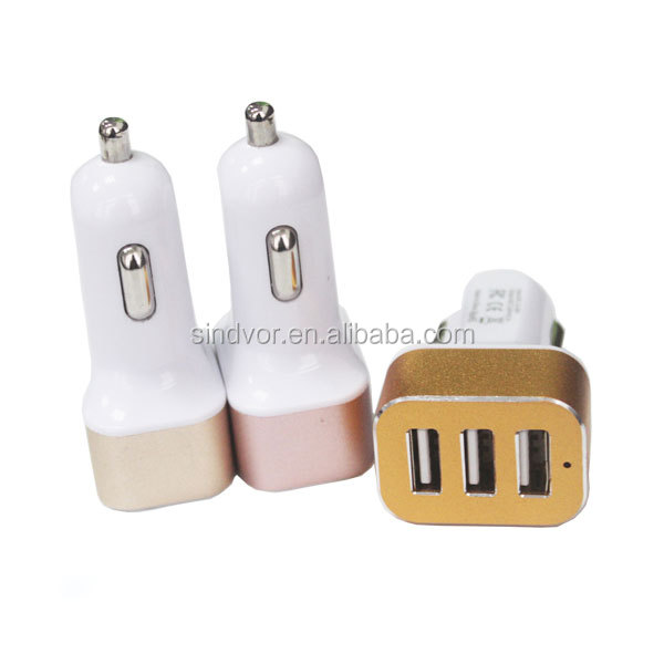Car Multipurpose 3 USB AC/DC Charger Adapter for Samsung Galaxy