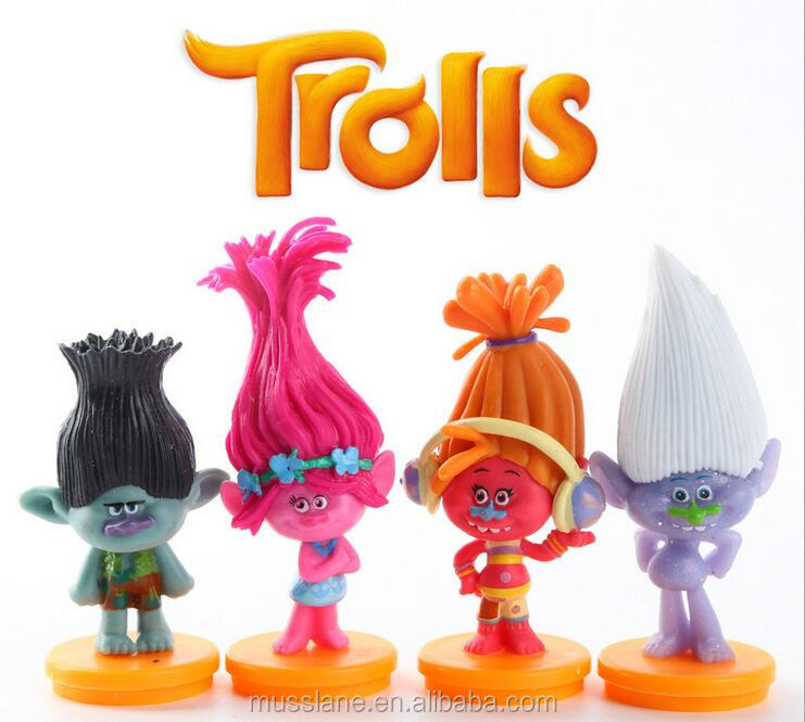Custom plastic Trolls Toy For Dreamworks Movie