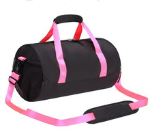 Lady women sports yoga gym overnight travel duffle duffel bag with shoes compartment