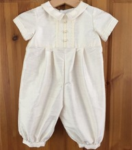 Wholesale spanish baby clothes clothing of plain white baby rompers for boys