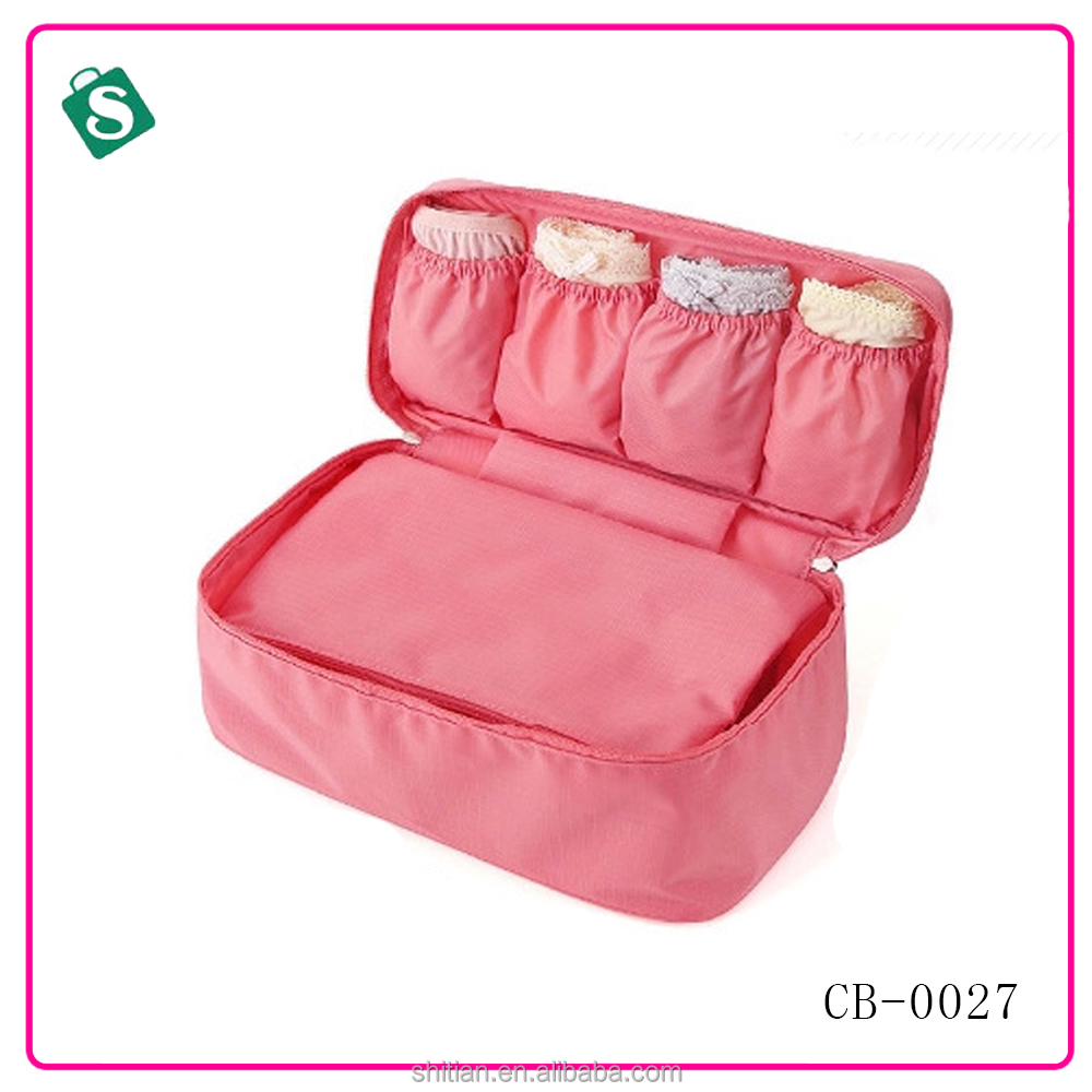 Multi-function Nylon Travel Underwear Bra Organizer Pouch storage bag