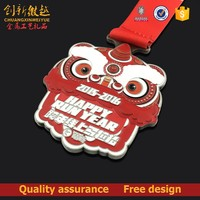 2016 die casting enamel sports medal with ribbon