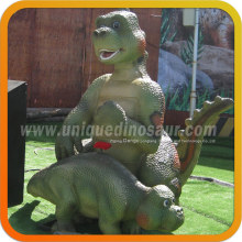 Cartoon Dinosaur Statue Funny Sculptures