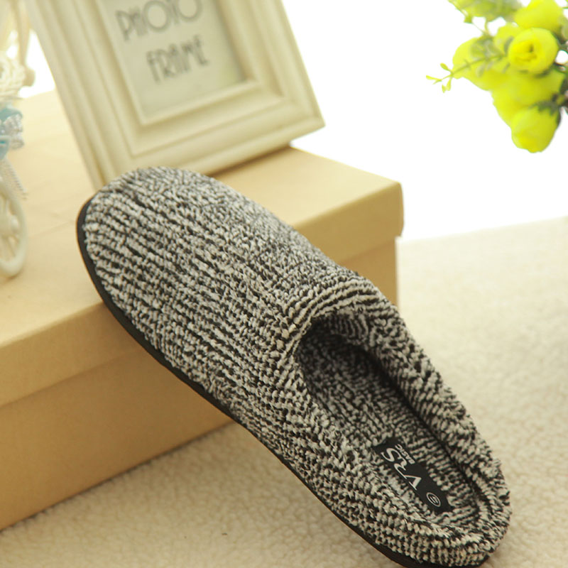 plush warm Spring slipper bathroom shoes for men
