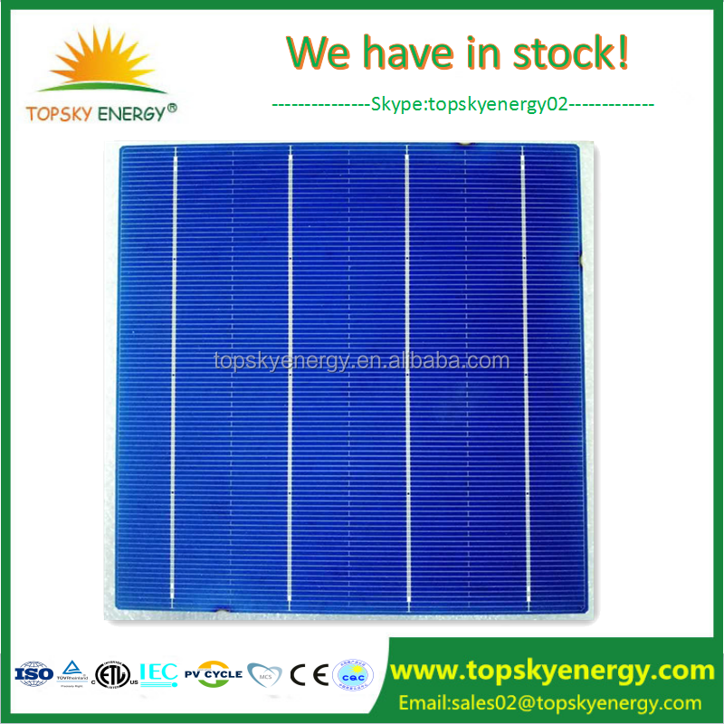 TUV certificated Chinese trina high efficiency 156*156mm poly cheap panel solar cell for sale