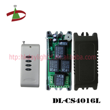 12V / 24V DC small case 4 channel rf 433mhz long range wireless remote control on off switch
