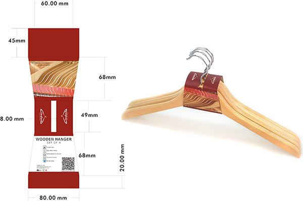 Assessed Supplier LINDON wholesale wooden colored clothing hangers with bar and notches