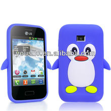 PENGUIN SILICONE SKIN Mobile Phone Case COVER FOR LG Optimus L3 E400