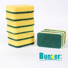 kitchen and bath cleaning sponge scouring pad scrubber with packing