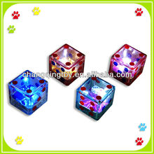 Flashing Plastic Dice With Bottle Opener Toy,Novelty Flashing Dice toys for Kid