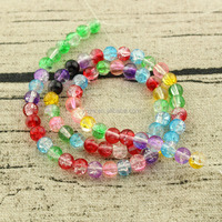 CR5514 Multicolor crack cracked crystal glass beads,colored crackle crackled beads