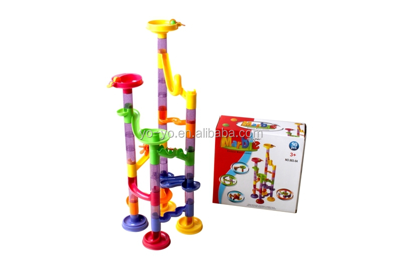 HY883-13 New kids funny plastic marble race toys 150pcs