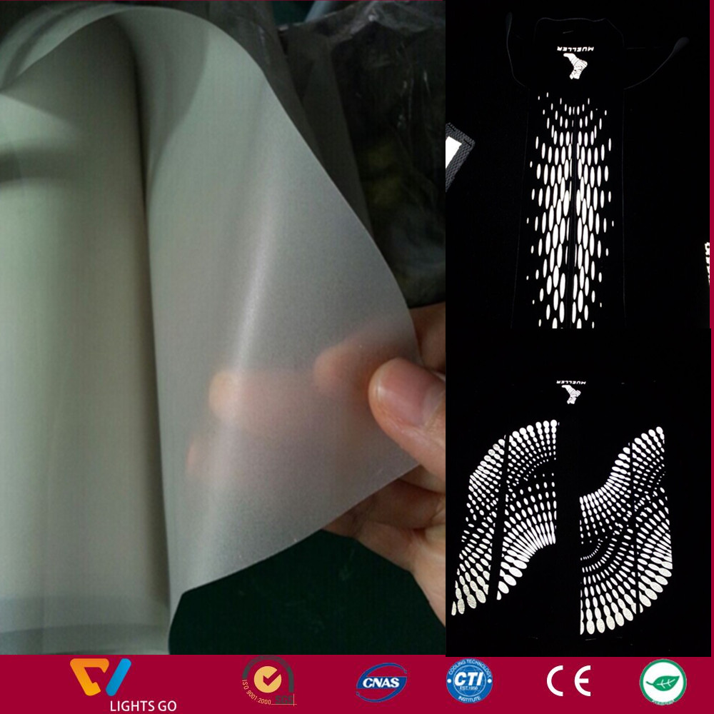 transparent reflective film material for safety