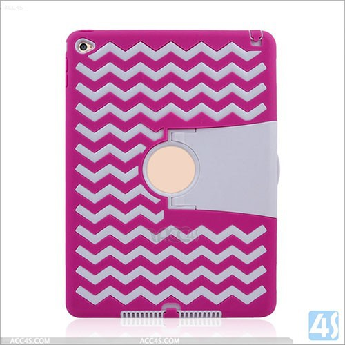 shockproof pc silicone 3 layer protective case for ipad air 2