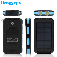10000mAh High-Efficiency SunPower Solar Panel Power Bank with 2 USB Ports Portable Charger Battery for All USB Supported Devices