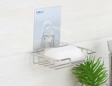 Wholesale Cheap Price Bathroom Accessory Hanging Stainless Steel Soap Shelf Dish Dispenser In Bathroom