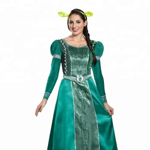 Deluxe Princess Fiona Adult halloween Costume fancy dress for girls for women
