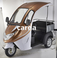 Luxurious Elctric mobility scooter with 2 seats for passenger and cargo with roof for sale