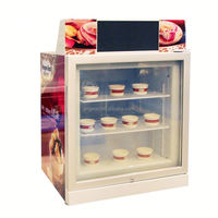 JGA 2016 68L Ice Cream Upright Vertical Deep Freezer With Single Grass Door For Supermarket Or Shop