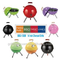 Outdoor Mini cute Football Shape Grill BBQ-11328B Of Diffrent Colors
