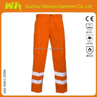 Fluorescent safety reflective tape work pants