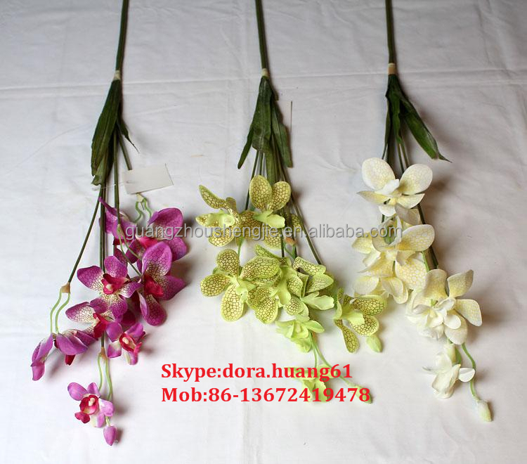 SJH011129 singapore orchid flower tall artificial flowers cheap wholesale artificial flowers