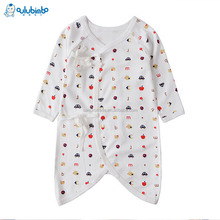 2017 kids baby organic soft cotton rompers plain colour baby romper