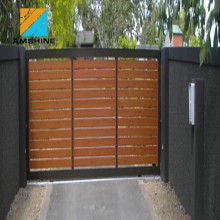 industry garage doors wooden grain fence slats