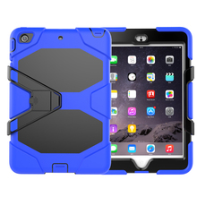 3 in 1 Full Protective Shockproof Silicone Case For iPad Mini