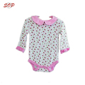 Printed long sleeve design baby romper jumpsuit cotton baby floral jumpsuits