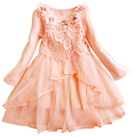 Vintage Lace Wedding Dress Princess Style Evening Dress Party Dress For 2-12 Years Old Girls