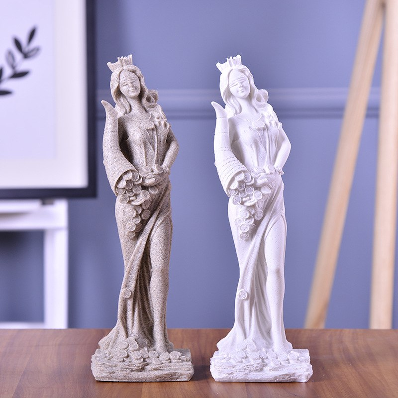 Abstract Fortune Goddess Resin Statue Living Room Decoration